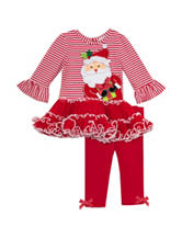 Rare Editions 2-pc. Christmas Leggings Set - Baby 3-9 Mos..
