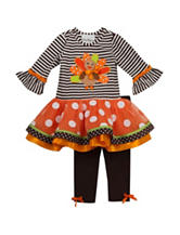 Rare Editions 2-pc. Turkey Top & Leggings Set - Baby 12-24 Mos.