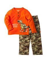 Baby Gear 2-pc. Dino Henley Camouflage Pants Set - Baby 12-24 Mos.