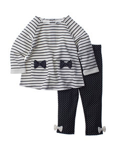 Baby Gear 2-pc. Striped Print Top & Leggings Set - Baby 12-24 Mos.
