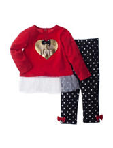 Baby Gear 2-pc. Made With Love Top & Leggings Set - Baby 12-24 Mos.