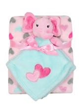 Baby Gear 2-pc. Elephant Buddy & Heart Print Blanket