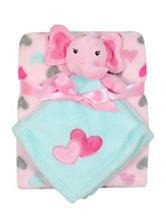 Baby Gear 2-pc. Elephant Buddy & Heart Print Blanket