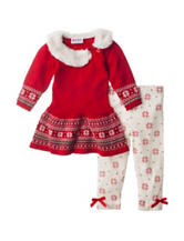 Blueberi Boulevard 2-pc. Holiday Sweater & Leggings Set – Baby 12-24 Mos.