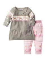 Blueberi Boulevard 2-pc. Holiday Sweater & Leggings Set - Baby 12-24 Mos.