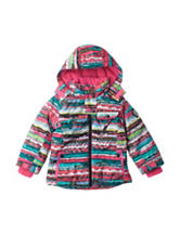 Pink Platinum Striped Print Board Jacket - Girls 4-6x