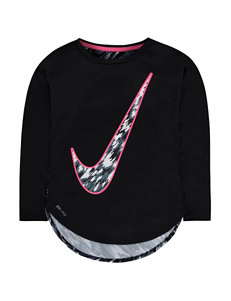 Nike Dri-Fit Sublimation Print Swoosh Top – Girls 4-6x