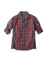 U.S. Polo Assn. Gingham Roll Woven Shirt - Boys 8-20