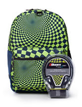Hypno Checkered Backpack with Headphones