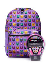 Cool Cat Backpack with Headphones