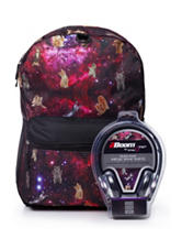 Space Cat Backpack with Headphones