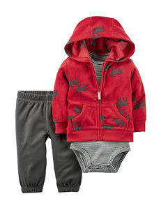 Carter's® 3-pc. Fleece Jacket & Pants Set - Baby 0-18 Mos.