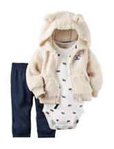 Carters® 3-pc. Sherpa Jacket & Pants Set - Baby 0-18 Mos.
