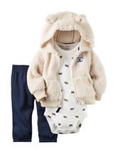 Carters® 3-pc. Sherpa Jacket & Pants Set - Baby 0-18 Mos.