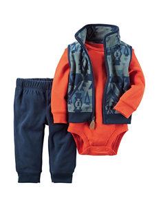 Carters® 3-pc. Aztec Print Vest & Pants Set - Baby 0-18 Mos.