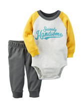 Carter's® 2-pc. Seriously Handsome Bodysuit & Pants Set - Baby 0-18 Mos.
