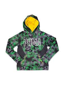 Puma Green Fleece & Soft Shell Jackets