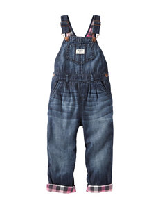 OshKosh B'gosh® Multicolor Gingham Lined Overalls - Baby 3-24 Mos.