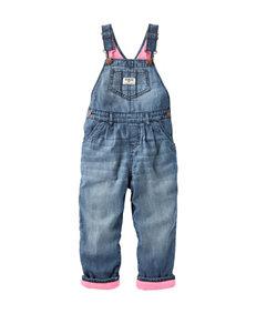 OshKosh B'gosh® Pink Lined Overalls - Baby 3-24 Mos.
