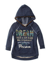 Beautees Dream Hi-Lo Hoodie Top with Necklace - Girls 7-16