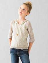Beautees Lace Hoodie Top - Girls 7-16