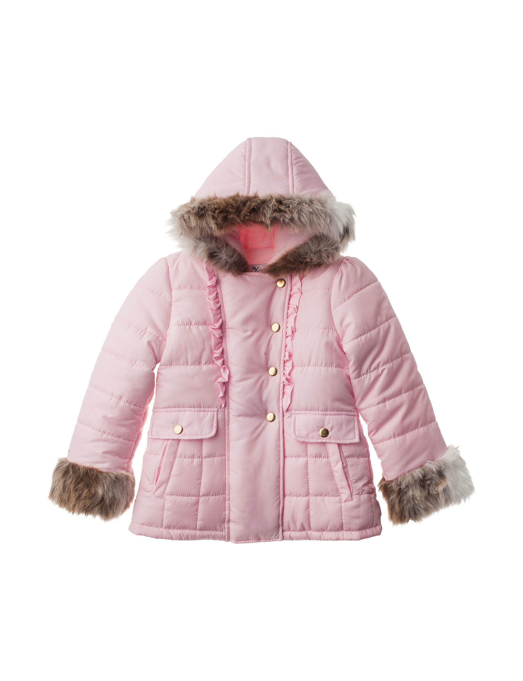 KC Collections Pink Fleece & Soft Shell Jackets
