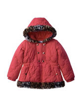 KC Collections Quilted Puffer Jacket - Toddler & Girls 4-6x