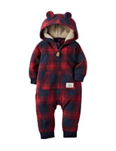 Carter's® Plaid Fleece Coverall - Baby 0-12 Mos.