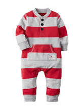 Carter's® Stripe Print Terry Coverall - Baby 0-12 Mos.