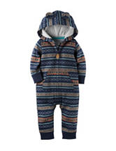 Carters® Aztec Print Terry Coverall - Baby 0-12 Mos.
