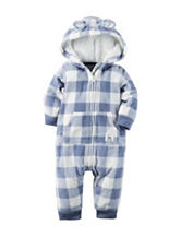 Carter's® Plaid Print Fleece Coverall - Baby 0-12 Mos.