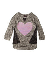 Miss Chevious Embellished Heart Top - Girls 7-16