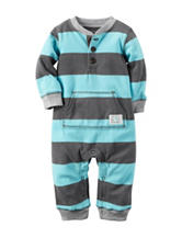 Carters® Stripe Print Coverall - Baby 0-12 Mos.