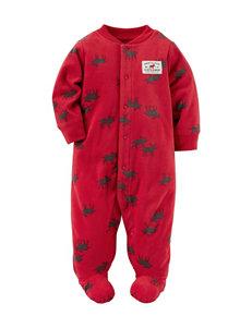 Carter's® Reindeer Print Fleece Sleep & Play - Baby 0-9 Mos.