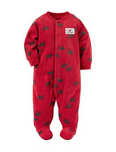 Carter's® Reindeer Print Fleece Sleep & Play - Baby 0-9 Mos.