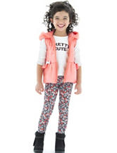 Little Lass 3-pc. Pink Quilted Puffer Vest Set - Girls 2-6x