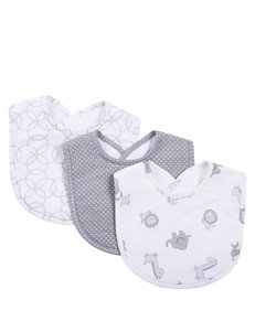 Trend Lab Grey / White Bibs & Burp Cloths