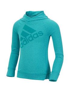 Adidas® Logo Stripe Print Hooded Top - Girl 2-6x