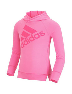 adidas® Logo Stripe Print Hooded Top - Girl 2-6x