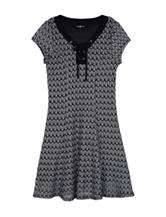 Amy Byers Lace Up Henley Dress