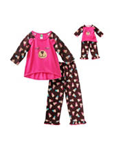 Dollie & Me Bear Print Pajamas Set - Girls 4-14