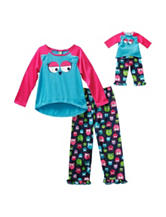 Dollie & Me 4-pc. Owl Print Pajamas Set - Girls 4-14
