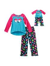 Dollie & Me 4-pc. Owl Print Pajamas Set - Girls 4-14