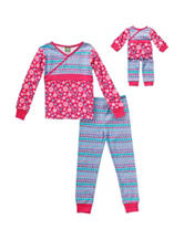 Dollie & Me Floral & Triangle Print Pajamas Set - Girls 4-14