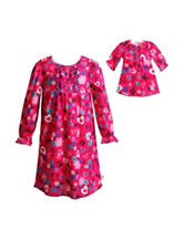 Dollie & Me 2-pc. Heart & Floral Print Pajama Gown - Girls 4-14