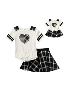 Dollie & Me 4-pc. Heart Print Skirt Set - Girls 4-14