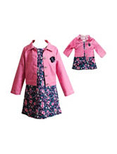 Dollie & Me 2-pc. Denim Jacket & Dress Set - Girls 4-14