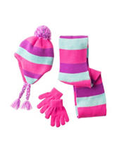 Capelli 3-pc. Striped Earflap Hat Set - Girls