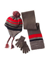Capelli 3-pc. Striped Earflap Hat Set - Boys
