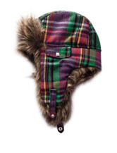Capelli Plaid Faux Fur Trapper Hat